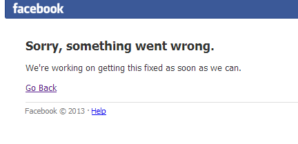 Facebook-panne
