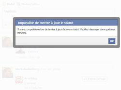 Facebook-publication-impossible