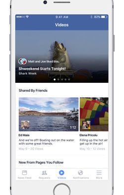 Facebook-section-Videos