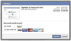 Facebook-test-paiement-post-mise-en-avant