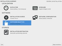 Fedora-18-installation