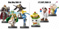 Figurines Amiibo ete 2015