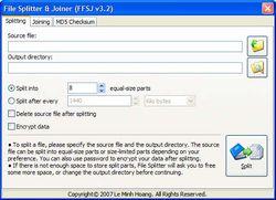 File Splitter and Joiner screen 2