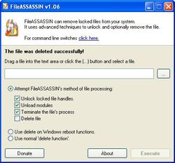 FileASSASSIN Portable screen1