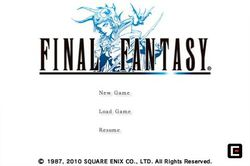 Final Fantasy I & II iPhone - 1