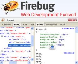 Firebug screen2