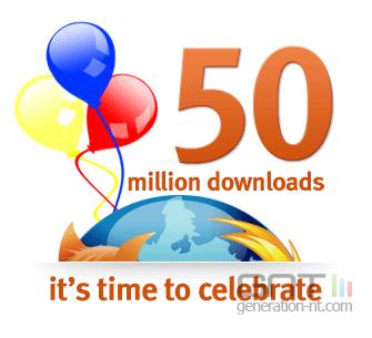 Firefox 50 millions telechargement