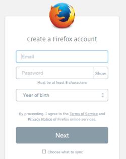 Firefox-Aurora-Compte