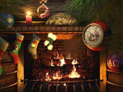 Fireside Christmas screen 1