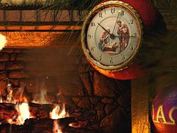 Fireside Christmas screen 2