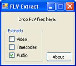 FLV Extract screen