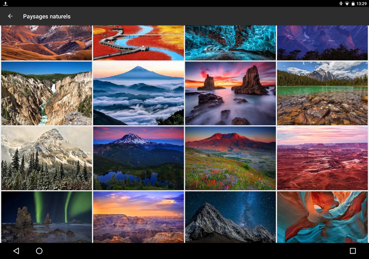 Fonds d 39 cran l 39 application du google pixel dans le play for Ecran image
