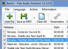 Free Audio Extractor : procéder à l'extraction de pistes audio