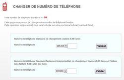 Free changer numéro téléphone
