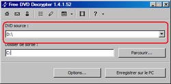 Free DVD Decrypter screen