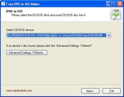 Free DVD ISO Maker screen 2