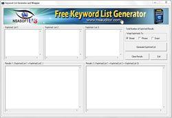 Free Keyword List Generator screen1