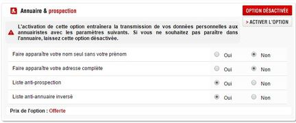 Free mobile option annuaire