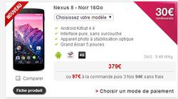 Free Mobile promo Nexus 5