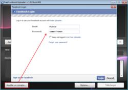 Free Uploader for Facebook screen 2