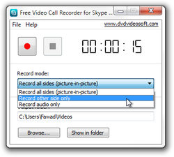 Free Video Call Recorder for Skype screen1