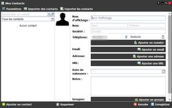 Freebox OS fiche contact