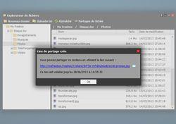 freebox OS partage de fichiers