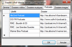 FreeMi UPnP Media Server  screen1