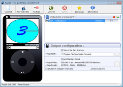Freez iPod Video Converter screen2