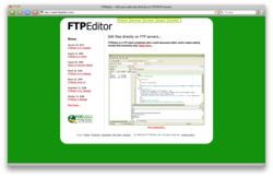 FTPEditor screen