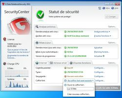 G DATA NotebookSecurity 2011 screen 1