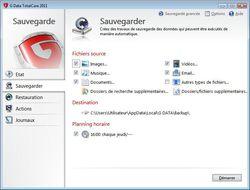 G DATA TotalCare 2011 screen 1