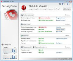 G DATA TotalCare 2011 screen 2