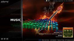 GeexBox Live CD screen1
