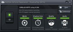 GeForce Experience ShadowPlay 2