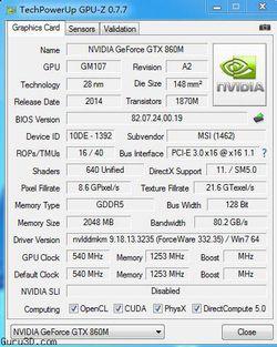 GeForce GTX 860M