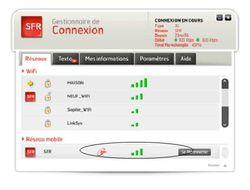 Gestionnaire connexion SFR beta