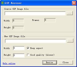 GiF Resizer screen.