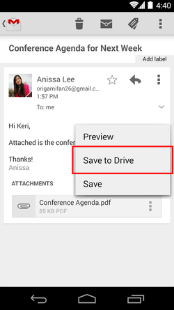 Gmail-Android-Drive