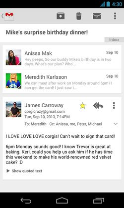 Gmail-Android-vue-conversation
