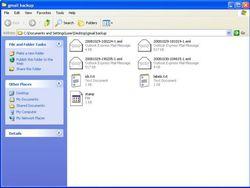 Gmail Backup screen 2