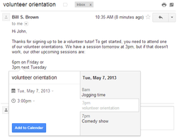Gmail-Google-Agenda