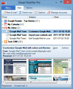 Gmail Notifier Pro screen2