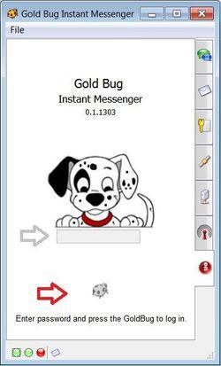 GoldBug Messenger screen1