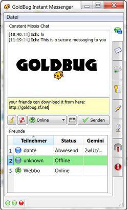 GoldBug Messenger screen2