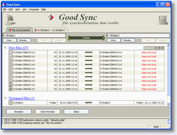 GoodSync screen 1