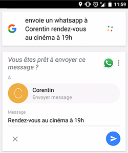 Google-android-envoi-message-whatsapp