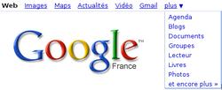 Google barre navigation