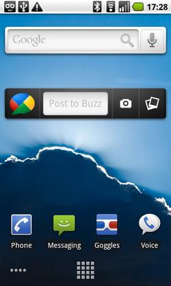 Google Buzz widget Android 01