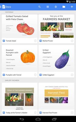 Google-Docs-Android